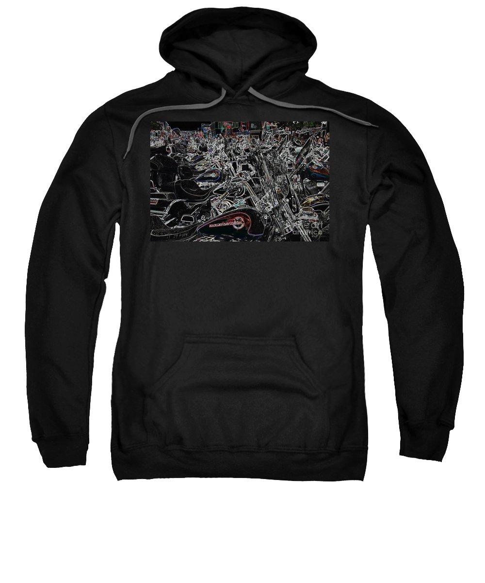Harley Davidson Sweatshirt featuring the photograph Harley Davidson Style by Anthony Wilkening