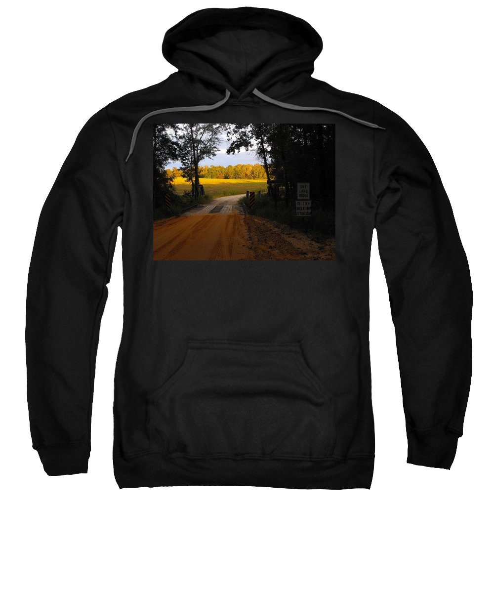 Dirt Road Sweatshirt featuring the photograph Heading To Sunlight by Charlie Day