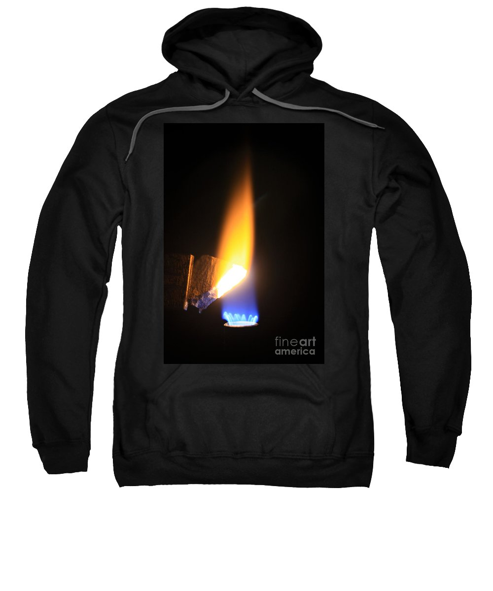 Science Sweatshirt featuring the photograph Heating Lime Limelight by Ted Kinsman