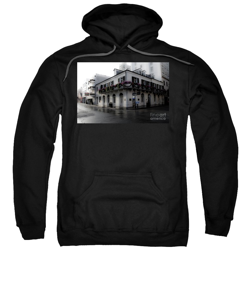 French Quarter Sweatshirt featuring the photograph Historic French Quarter No 1 by Frances Hattier