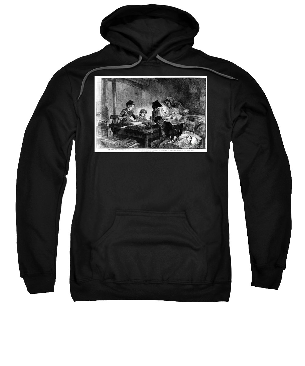 1888 Sweatshirt featuring the photograph Home Industry, 1888 by Granger
