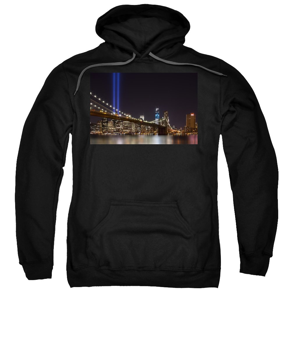 New York Sweatshirt featuring the photograph Home Of The Brave by Evelina Kremsdorf