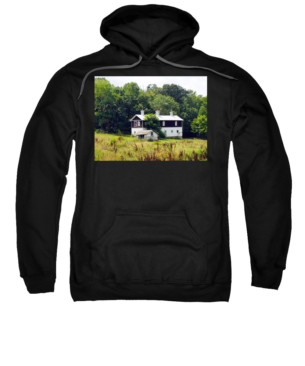 Farm Animals Sweatshirt featuring the photograph Horse Barn by Robert Margetts