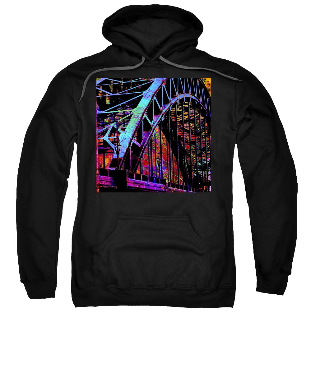 City Sweatshirt featuring the digital art Hot Town Summer In The City by Barbara Berney