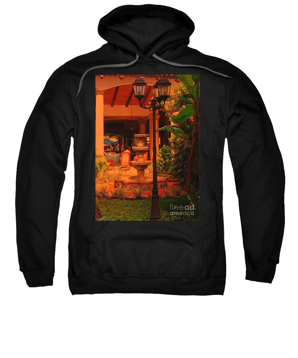 Hotel Courtyard Sweatshirt featuring the photograph Hotel Alhambra by Lydia Holly