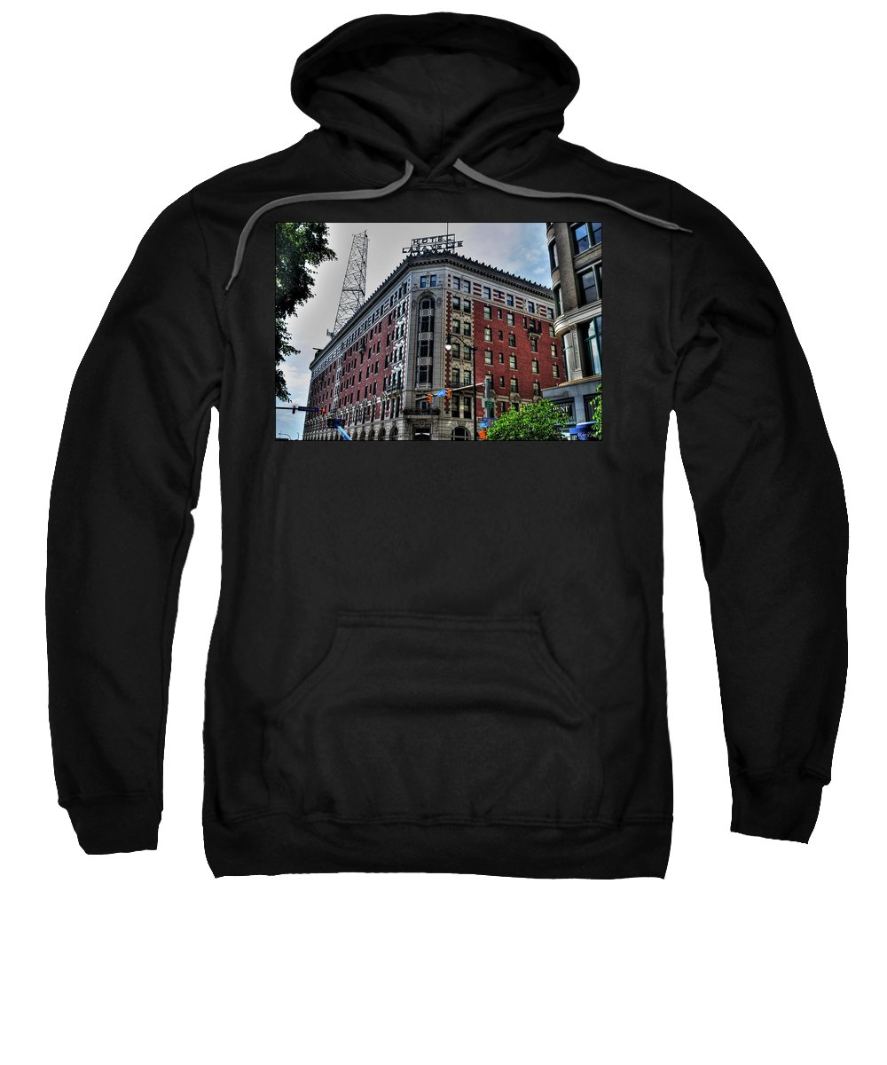 Sweatshirt featuring the photograph Hotel Lafayette Series 0002 by Michael Frank Jr