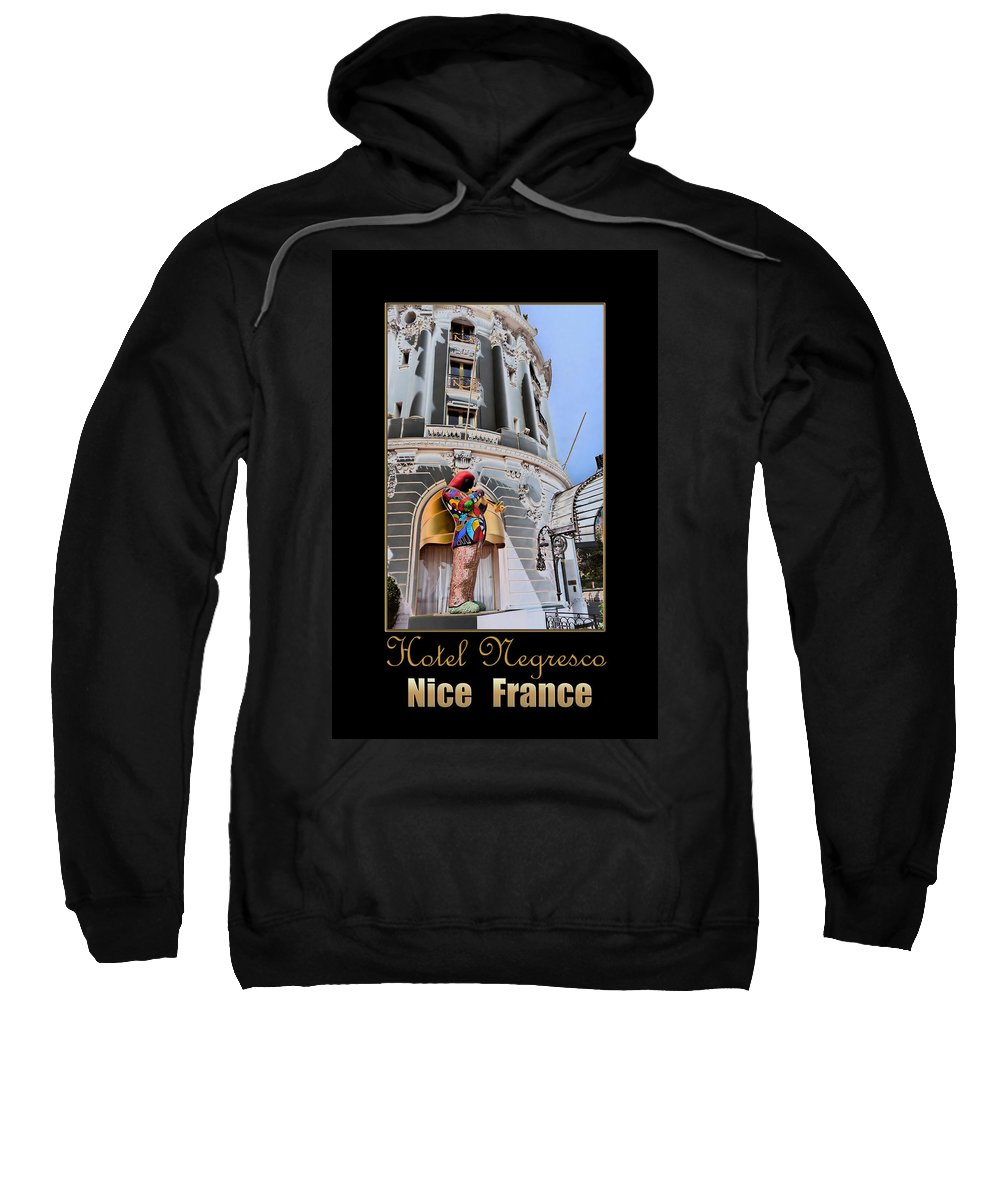 Hotel Sweatshirt featuring the photograph Hotel Negresco France by Andrew Fare