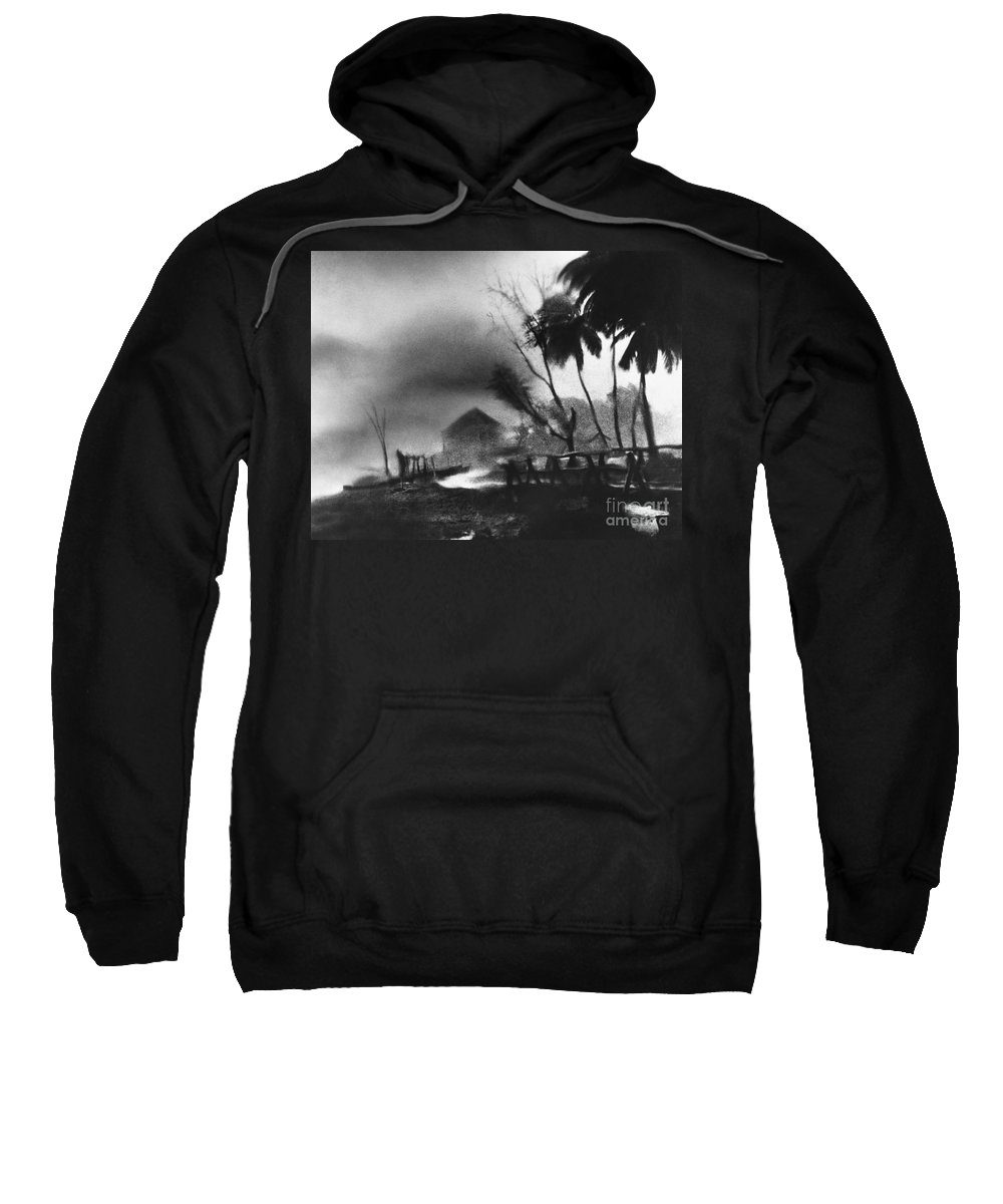 Weather Sweatshirt featuring the photograph Hurricane In The Caribbean by Fritz Henle and Photo Researchers