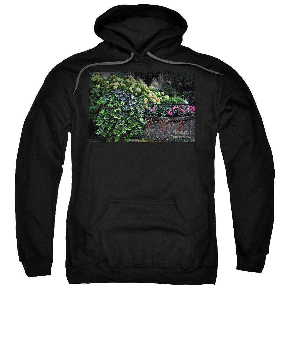 Hydrangeas Sweatshirt featuring the photograph Hydrangeas Salzburg by Mary Machare