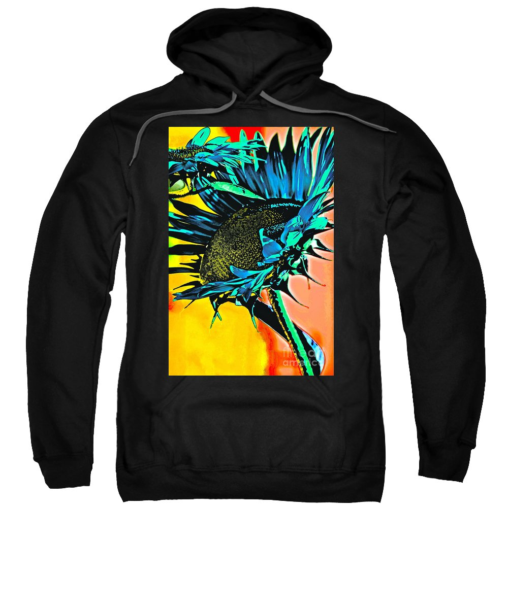 Sunflower Sweatshirt featuring the photograph I Will Be Bigger Than You by Gwyn Newcombe