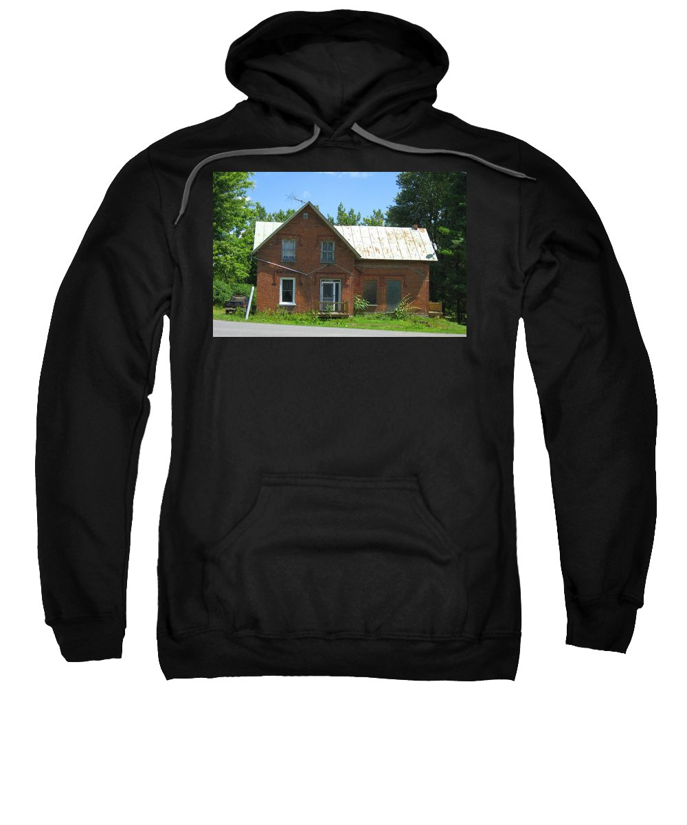 Abandoned Farmhouses Sweatshirt featuring the photograph I Will Take The Morning Train by Richard Stanford