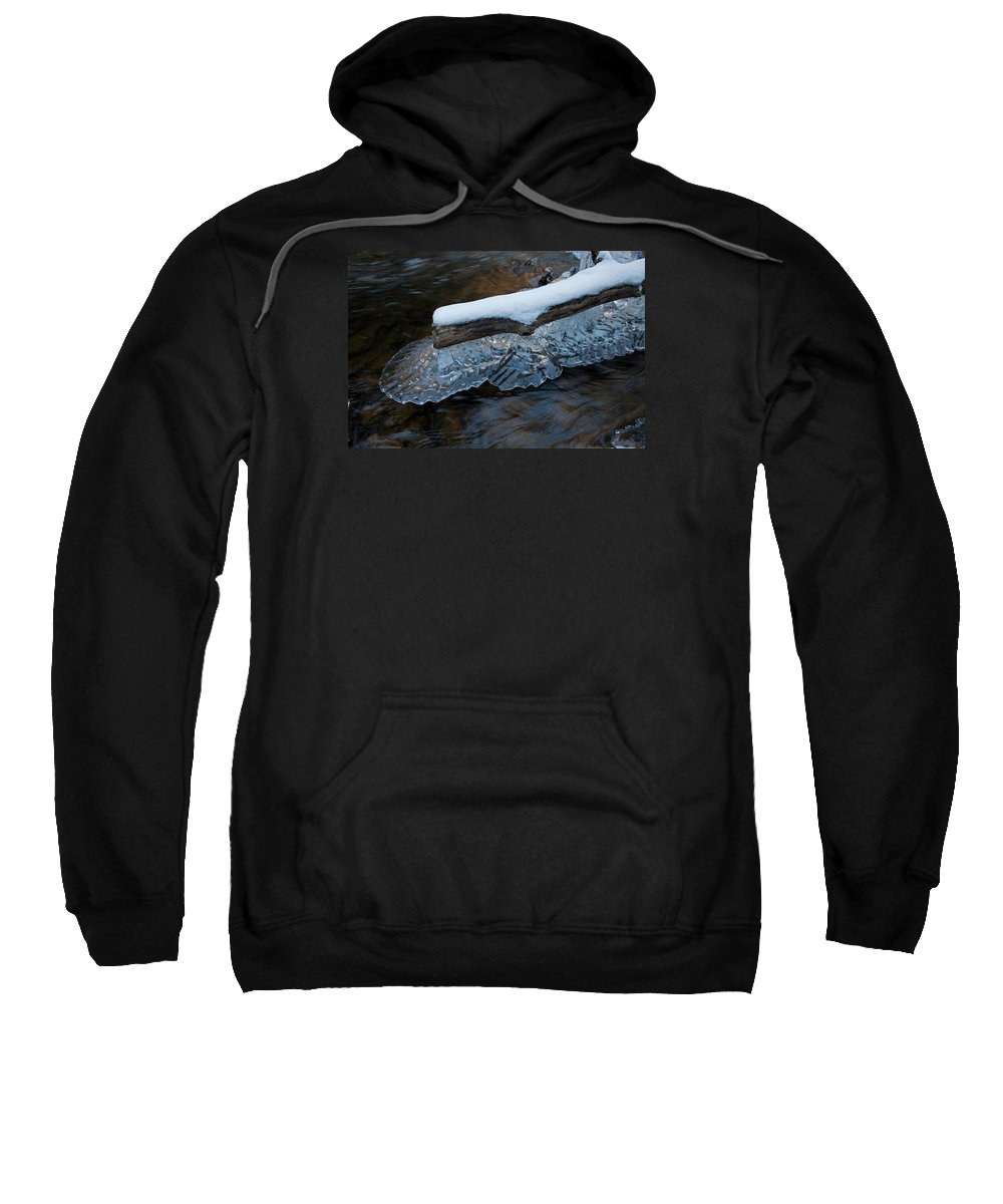 Ice Crystal Sweatshirt featuring the photograph Ice Scallops by John Stephens
