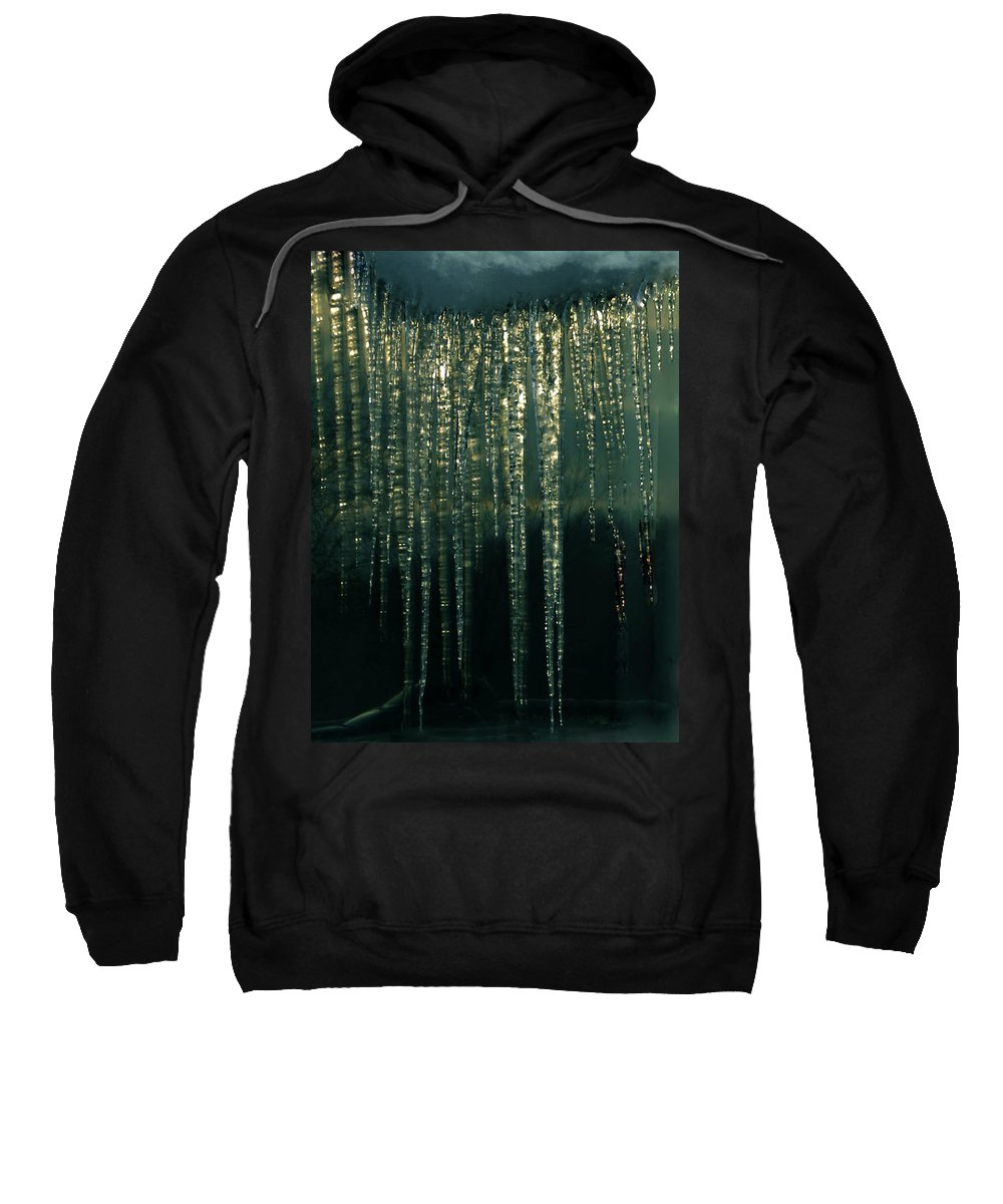 Colette Sweatshirt featuring the photograph Ice Winter Denmark by Colette V Hera Guggenheim