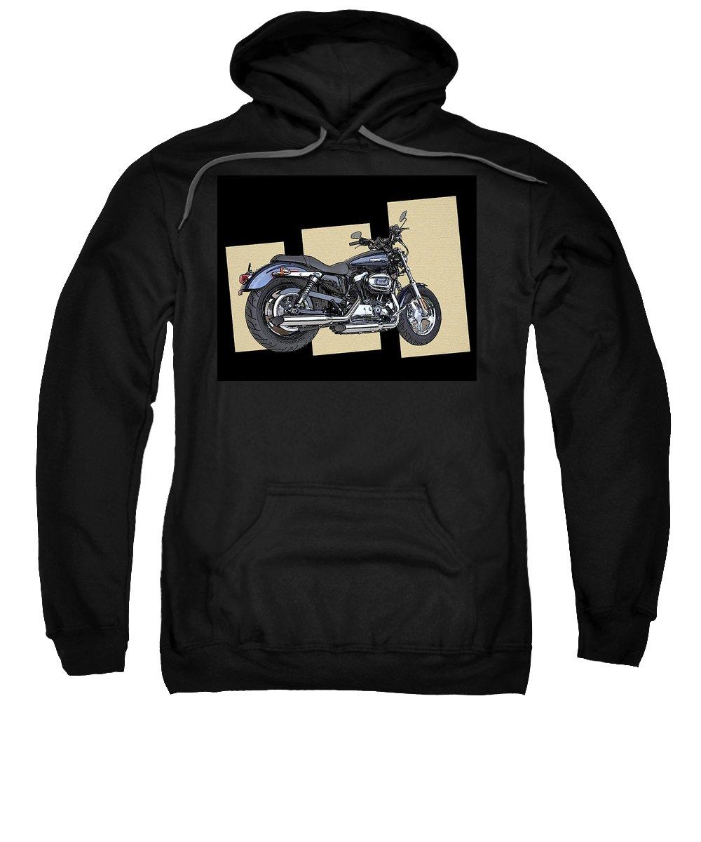 Iconic Harley Davidson Sweatshirt featuring the photograph Iconic Harley Davidson by Bill Cannon