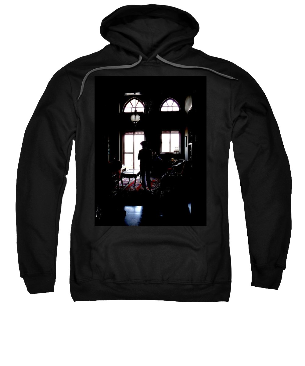 Shadows Sweatshirt featuring the photograph In The Shadows by Marwan George Khoury