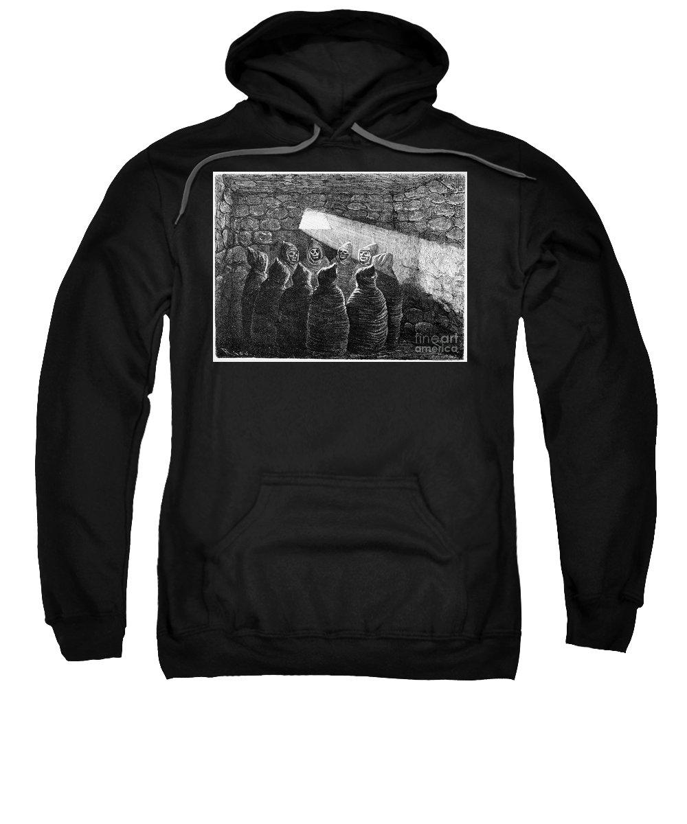 1869 Sweatshirt featuring the photograph Inca Tomb: Chulpa by Granger