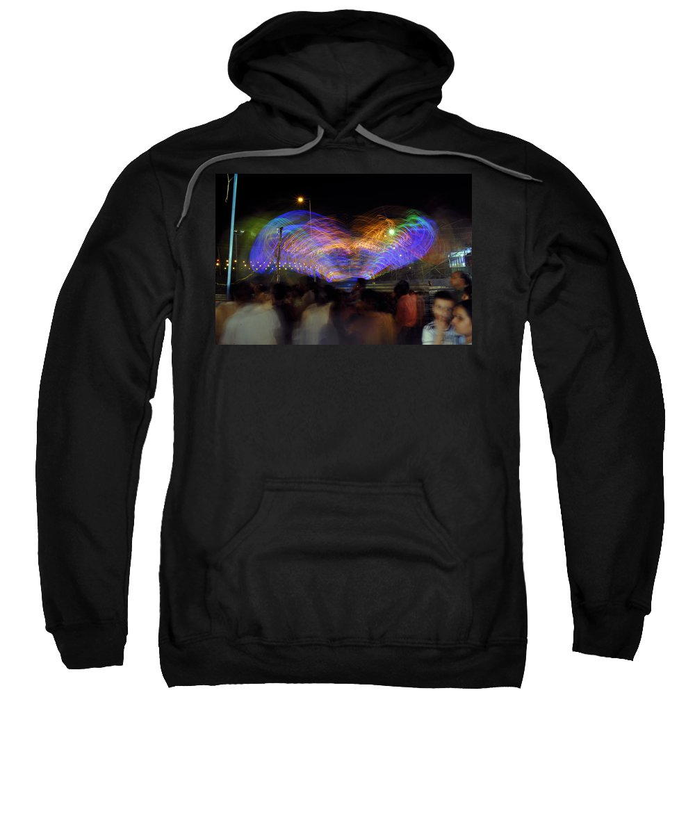 India Sweatshirt featuring the photograph Indian Carnival Colorful Swing by Sumit Mehndiratta