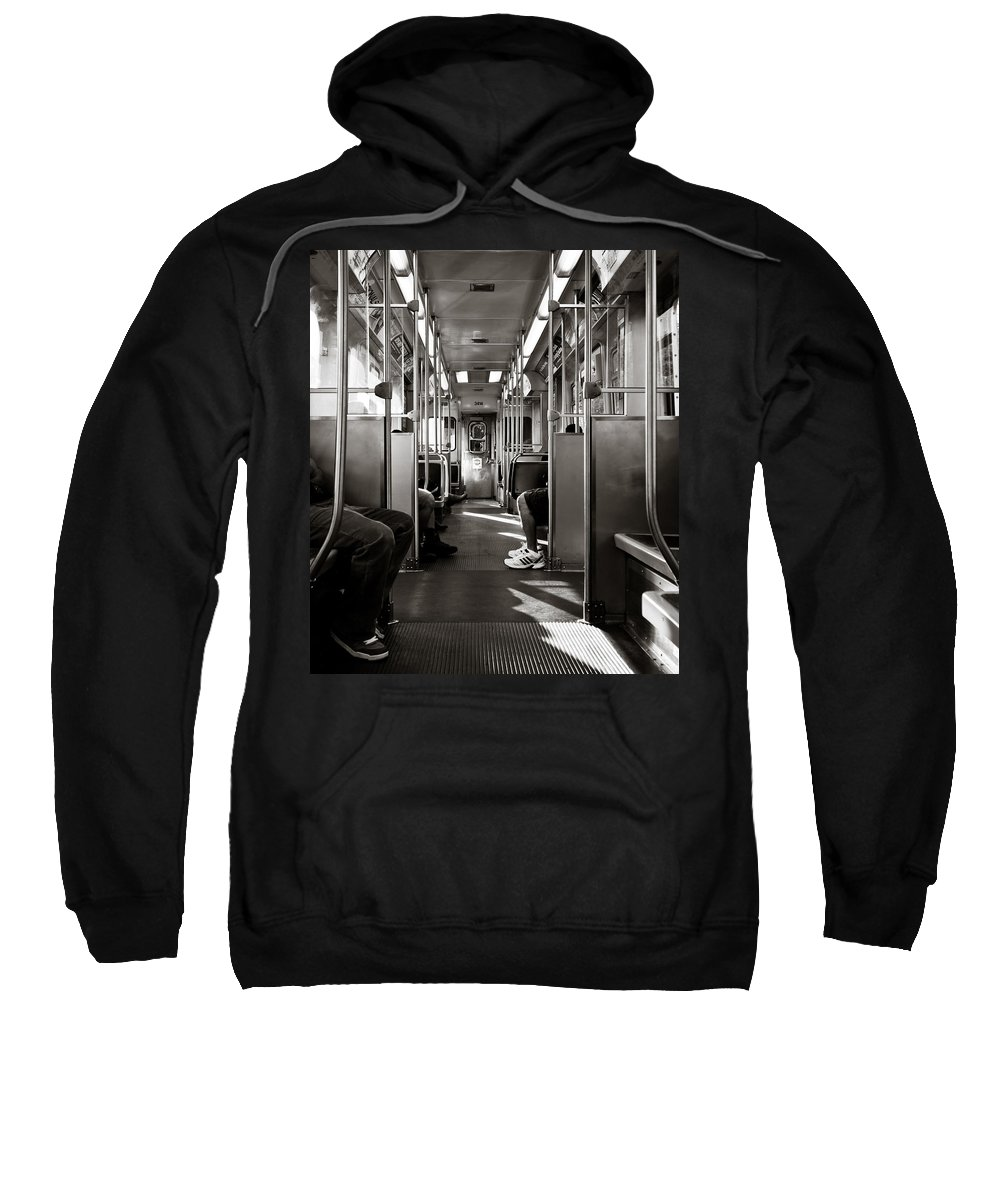 Chicago Sweatshirt featuring the photograph Inside The L by Anthony Doudt