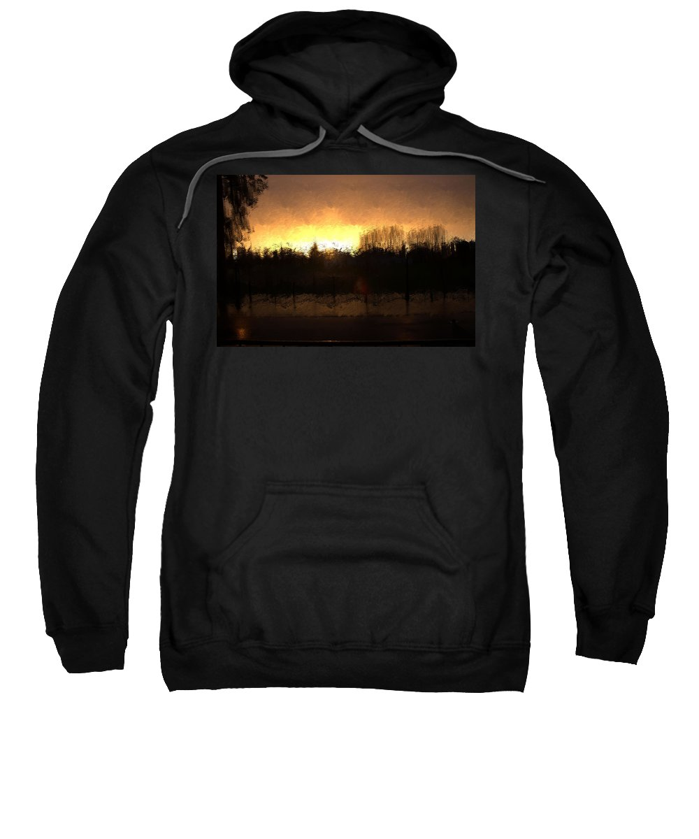 Sweatshirt featuring the mixed media Insomnia II by Terence Morrissey