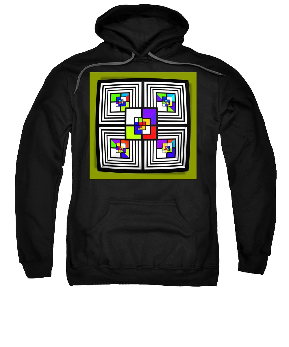 Diamond Sweatshirt featuring the painting Invisible Diamond by Charles Stuart