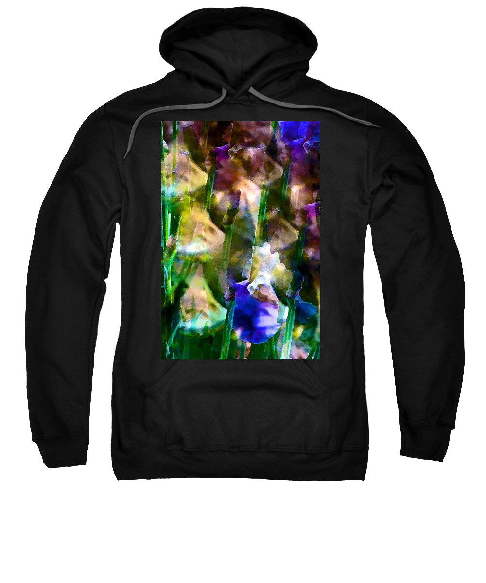 Floral Sweatshirt featuring the photograph Iris 52 by Pamela Cooper