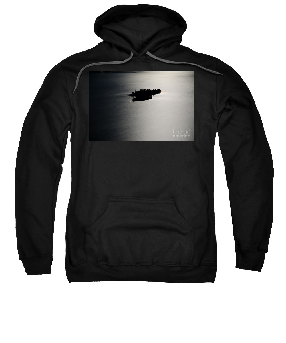 Island Sweatshirt featuring the photograph Island Illuminated With Moon Light by Mats Silvan