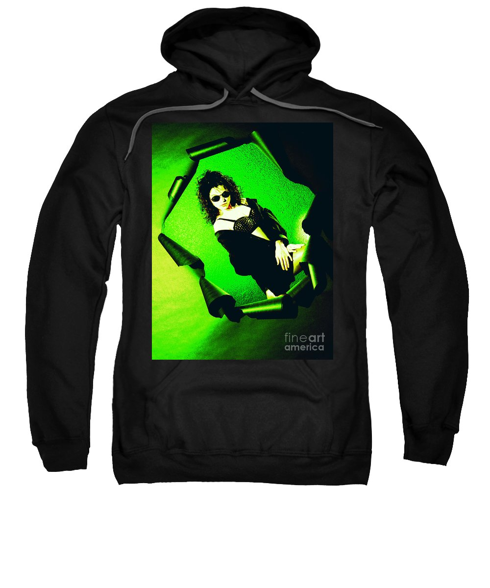 Model Sweatshirt featuring the photograph Jane Joker 3-2 by Gary Gingrich Galleries