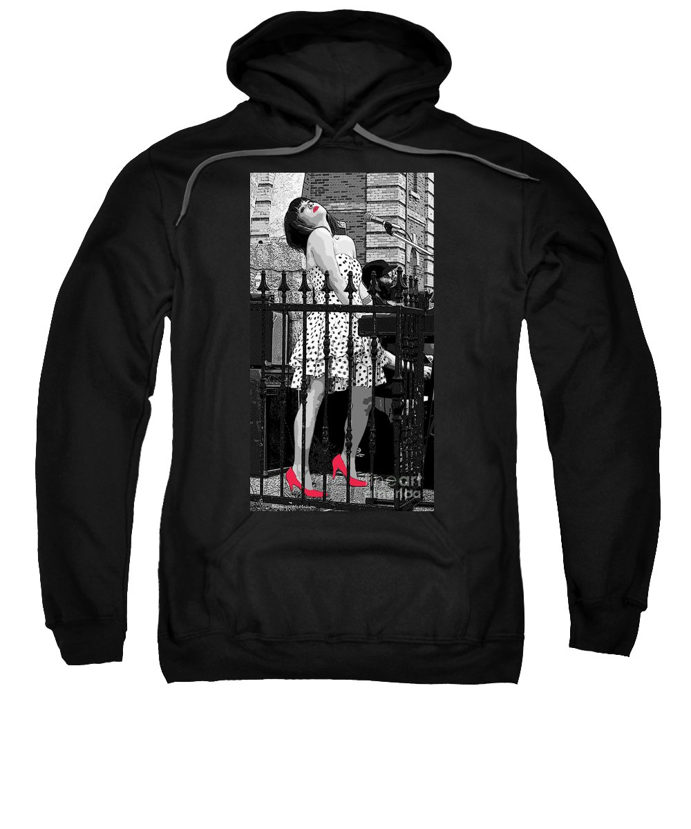 Jazz Sweatshirt featuring the photograph Jazzy Pink Shoes by Barbara McMahon