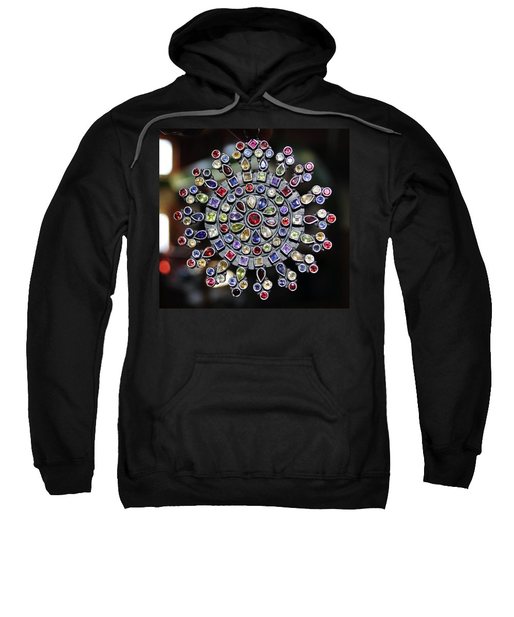 Jewelry Sweatshirt featuring the photograph Jeweled Snow Flake by Sumit Mehndiratta