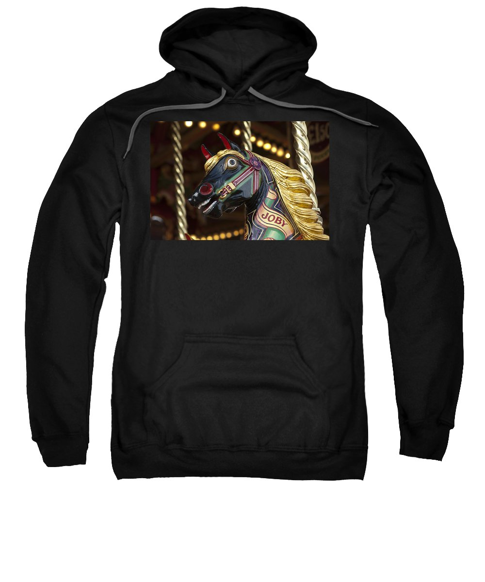 Carousel Sweatshirt featuring the photograph Joby The Carousel Horse by Beth Riser
