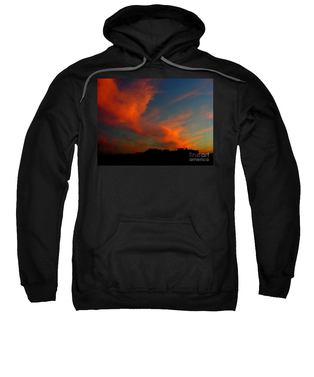 Sunset Sweatshirt featuring the photograph June 29 2010 by Mark Gilman