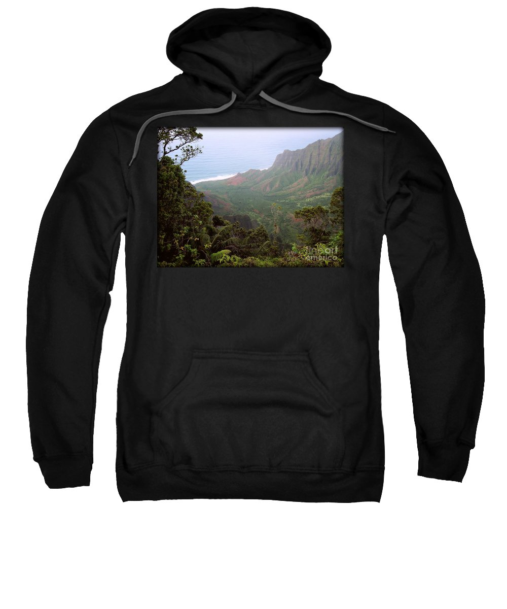Nature Sweatshirt featuring the photograph Kalalau Valley by Paulette B Wright