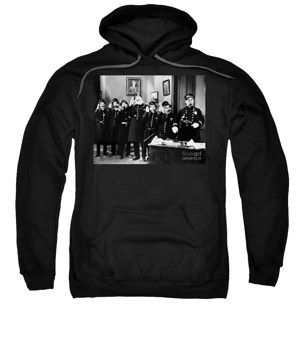 1910s Sweatshirt featuring the photograph Keystone Cops by Granger