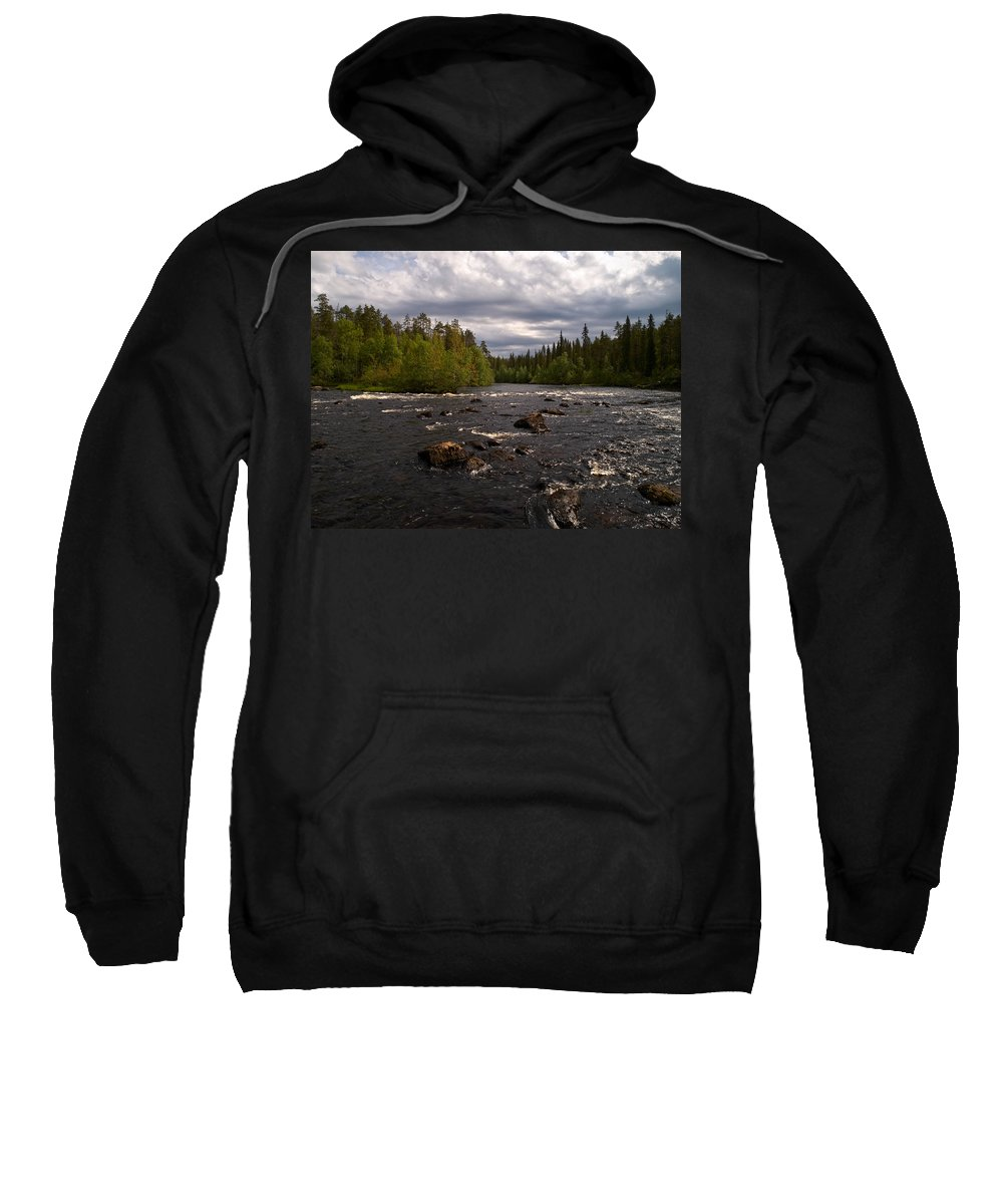 2012 Sweatshirt featuring the photograph Kiutakongas At Oulankajoki by Jouko Lehto
