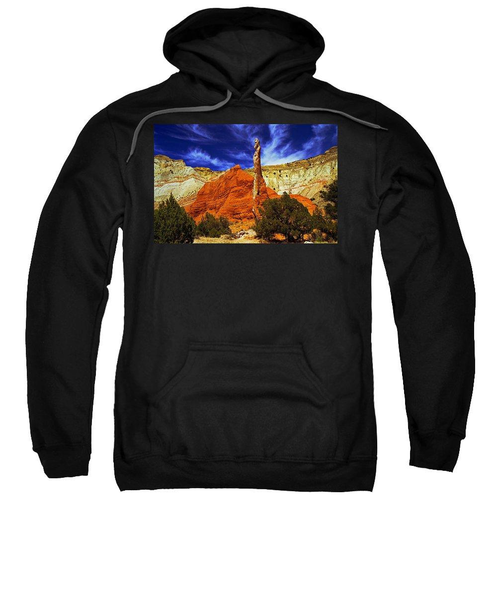 Utah Sweatshirt featuring the photograph Kodachrome National Park Spire by Rich Walter