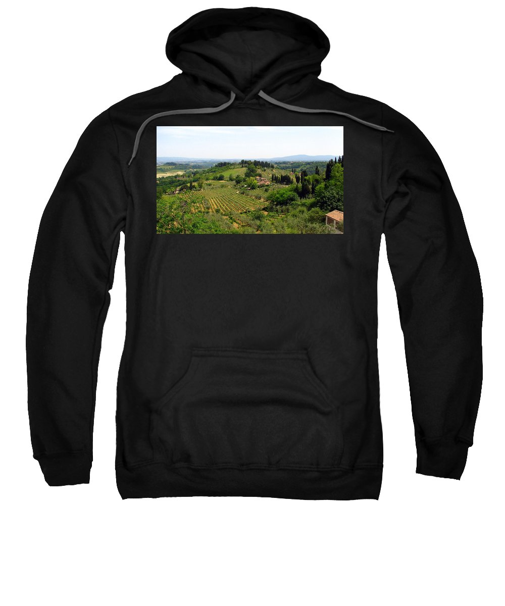 Tuscany Sweatshirt featuring the photograph La Toscana by Carla Parris