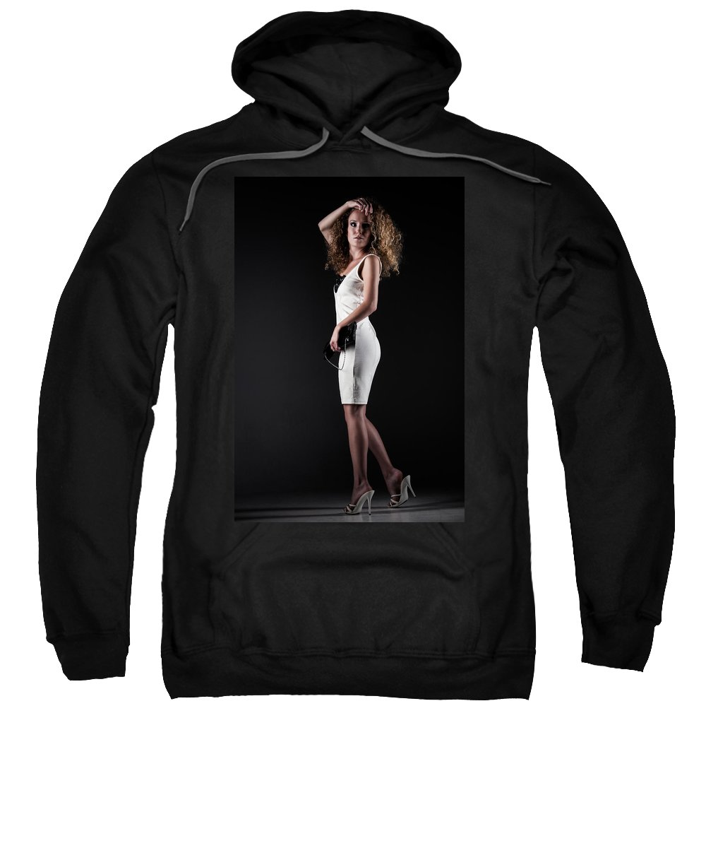 Ralf Sweatshirt featuring the photograph Lady With Curly Hair by Ralf Kaiser