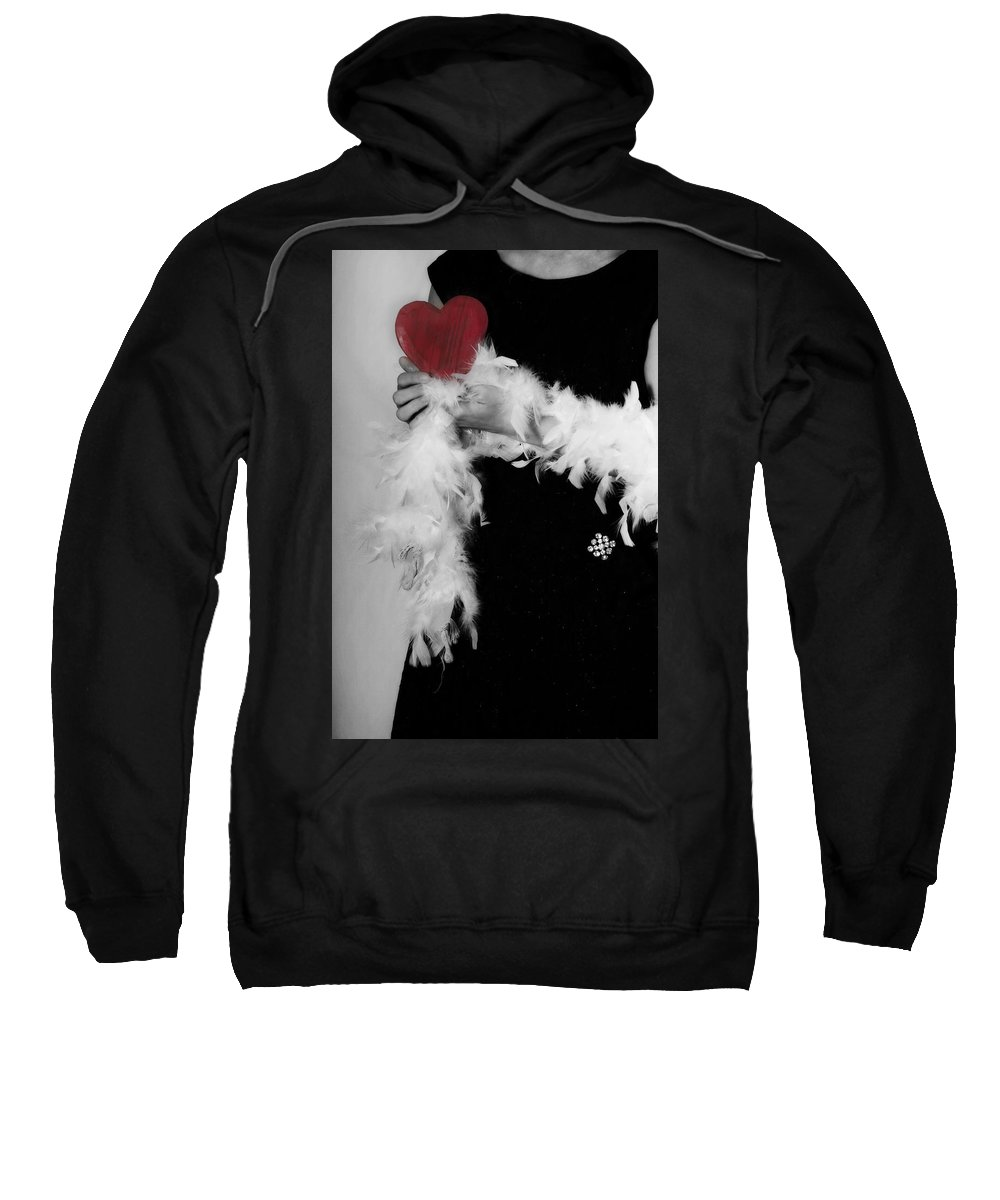 Female Sweatshirt featuring the photograph Lady With Heart by Joana Kruse