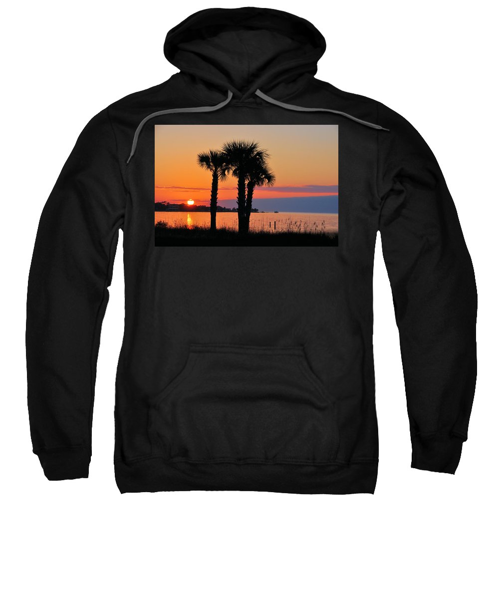Seascapes Sweatshirt featuring the photograph Land Of Heart's Desire by Jan Amiss Photography