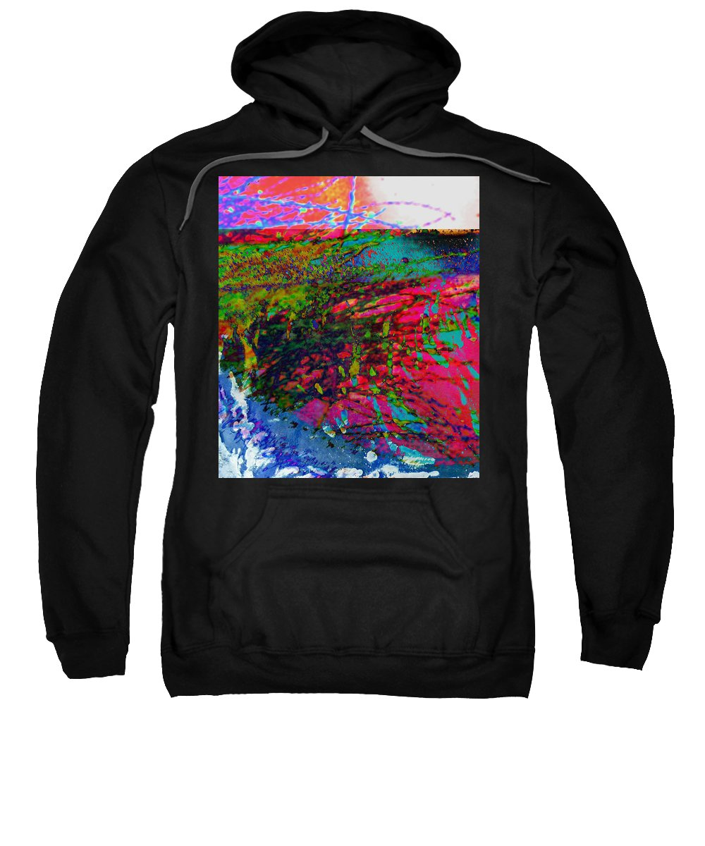 Abstract Sweatshirt featuring the photograph Landscape From Another World by Lenore Senior