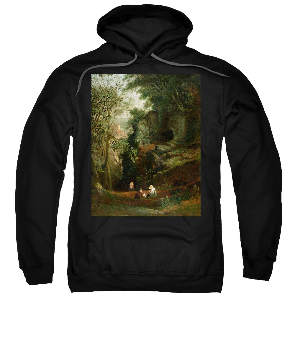 Xyc199545 Sweatshirt featuring the photograph Landscape Near Clifton by Francis Danby