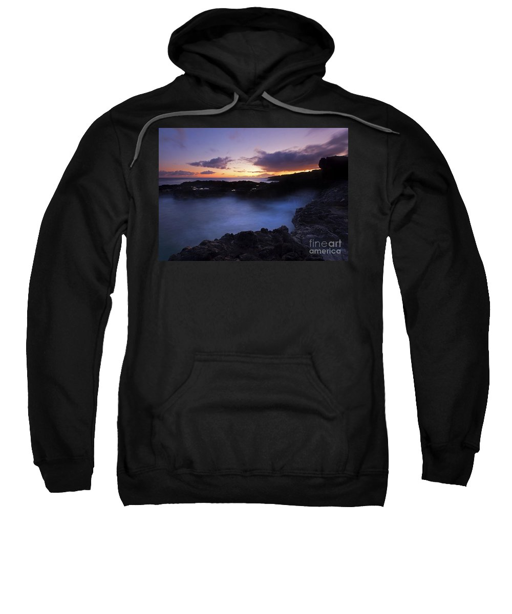 Kauai Sweatshirt featuring the photograph Last Light Over The South Shore by Mike Dawson