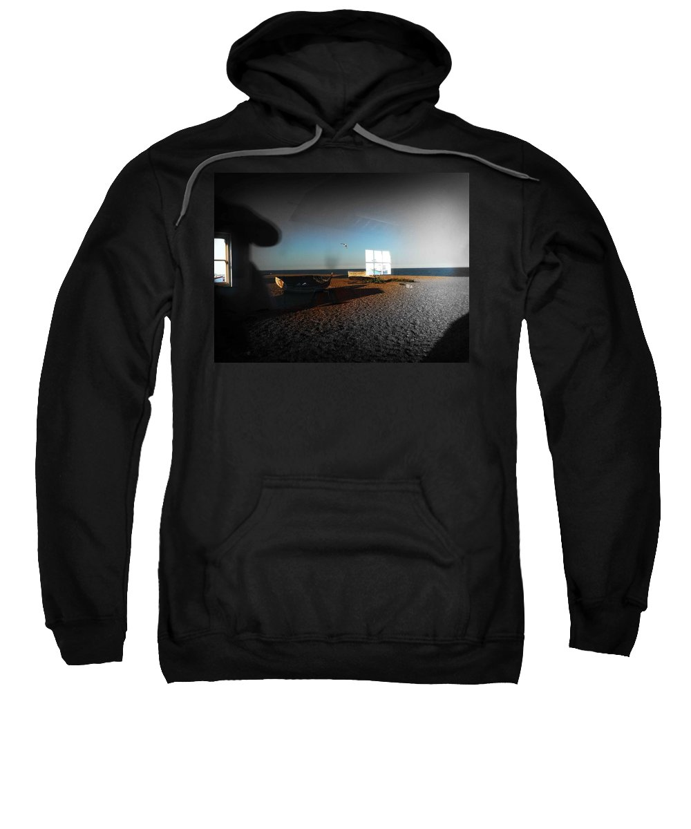 Seagull Sweatshirt featuring the photograph Late Flight by Charles Stuart