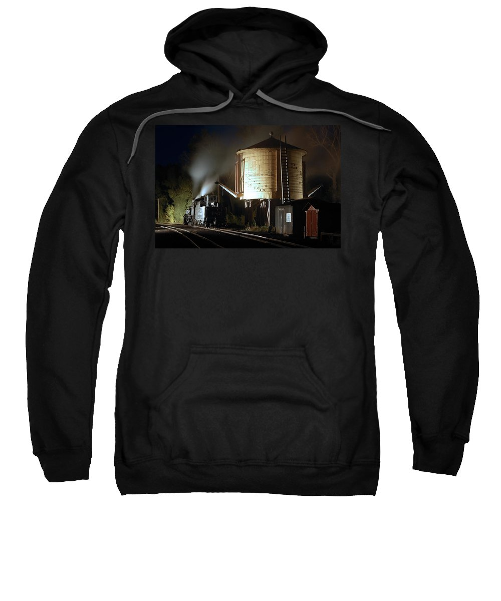 Steam Train Photographs Sweatshirt featuring the photograph Late Night Drink by Ken Smith
