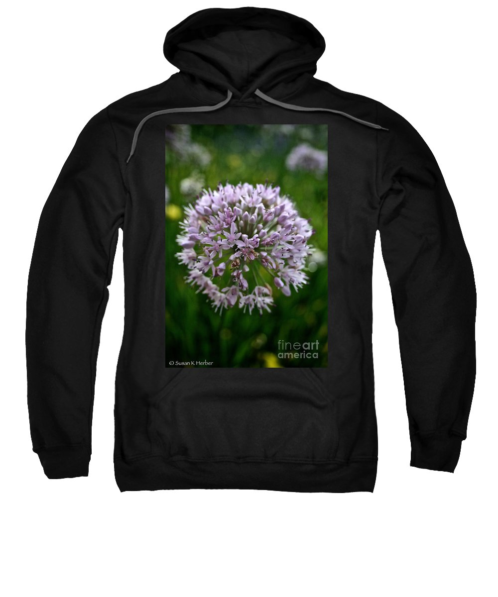 Floral Sweatshirt featuring the photograph Lavender Globe Lily by Susan Herber