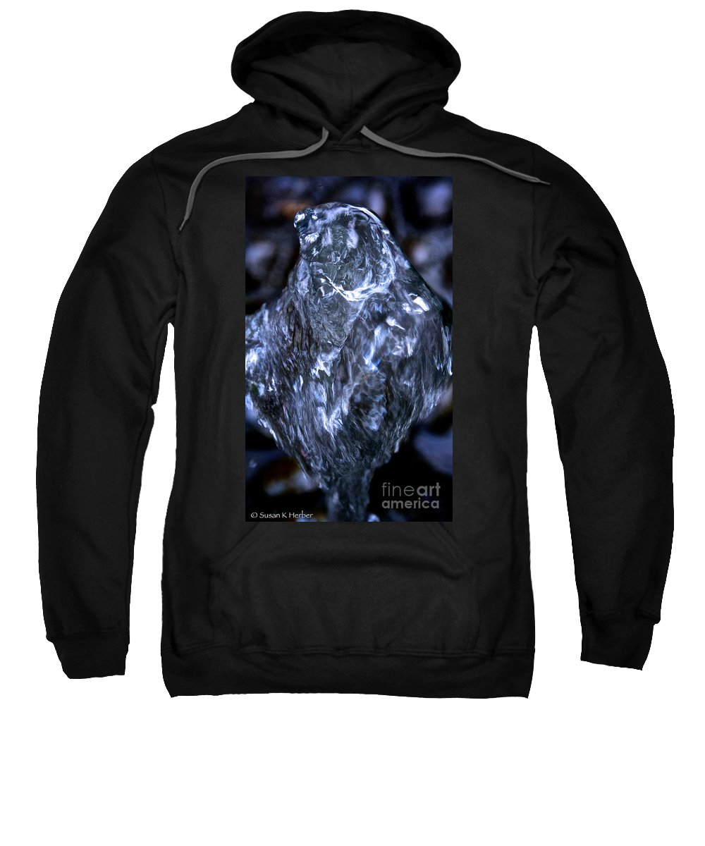 Outdoors Sweatshirt featuring the photograph Leaping H2o by Susan Herber