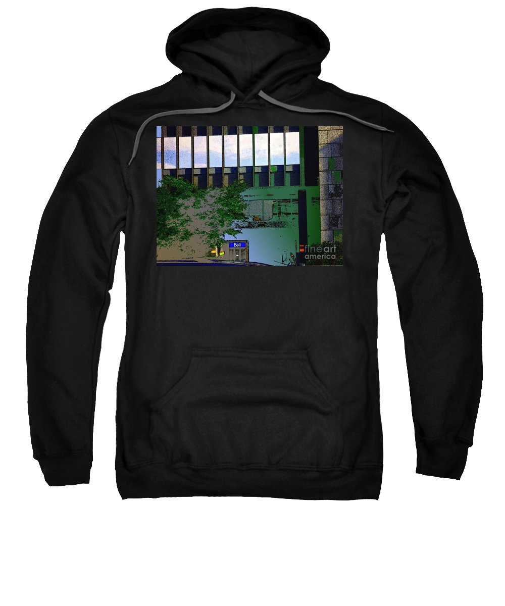 Echelle Sweatshirt featuring the mixed media L'echelle Humaine by Contemporary Luxury Fine Art