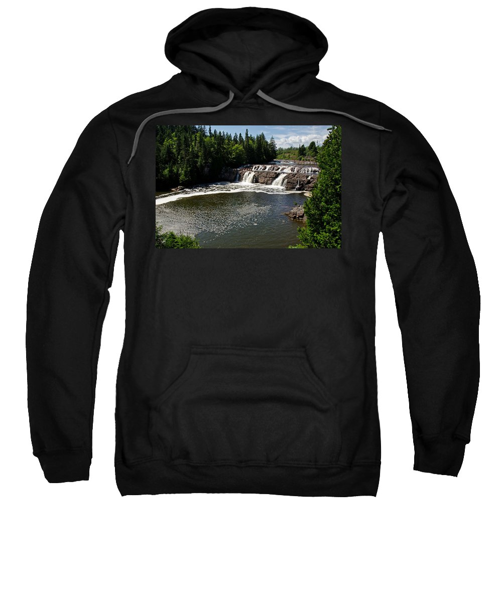 Falls Sweatshirt featuring the photograph Lepreau Falls by Jeff Galbraith
