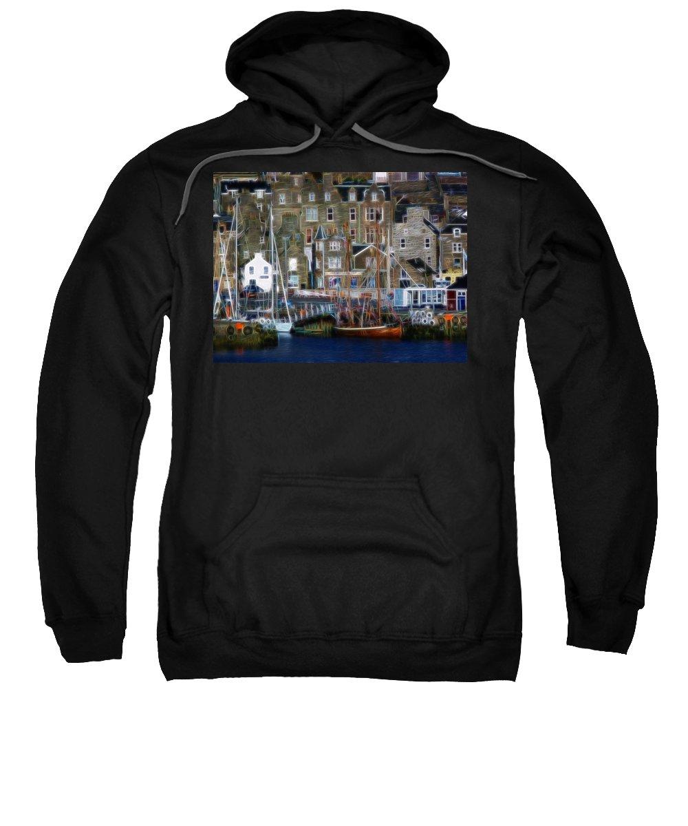 Lerwick Sweatshirt featuring the photograph Lerwick Harbour Shetland by Lynn Bolt