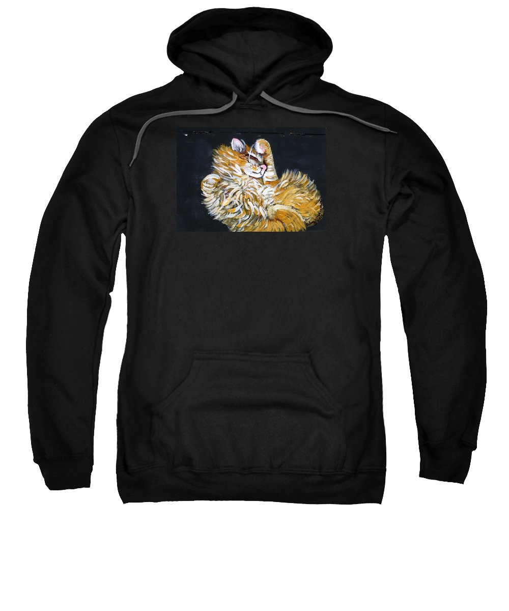 Pets Sweatshirt featuring the painting Let Me Paint Your Pet's Picture by Arlene Wright-Correll